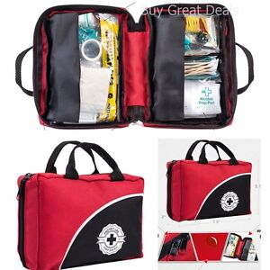 First Aid Kit Emergency and Survival Bag Stocked with Medical Supplies 115 Piece