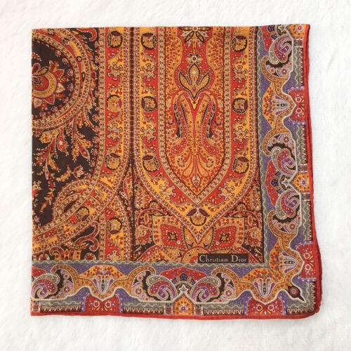 Vintage Cotton Multicolor Handkerchief Antique Flo