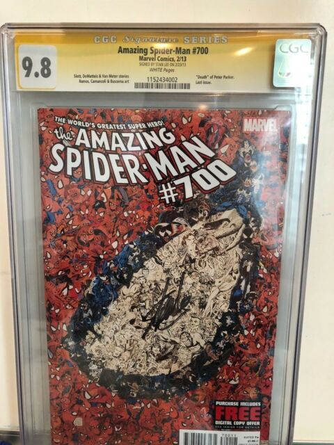 AMAZING SPIDER-MAN 700 CGC 9.8 SS Signed by Stan Lee!