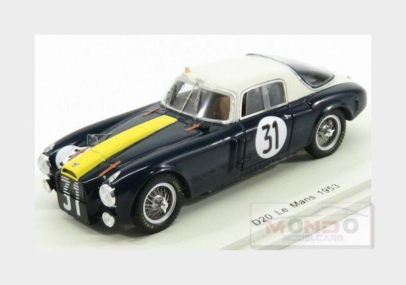 Lancia D20 2.7L V6 Team Scuderia Lancia  31 24H Le Mans 1953 SPARK 1 43 S4722
