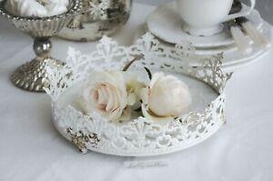 Chic Antique Kerzenteller Teelichthalter Glasteller Untersetzer Schälchen Shabby