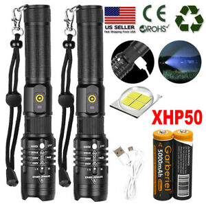 Ultra-Bright-990000LM-18650-XHP50-LED-Flashlight-Zoomable-USB-Rechargeable-Torch