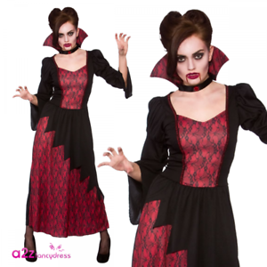 Vicious Vampiress Vampire Adult Womens Ladies Halloween Fancy Dress Costume