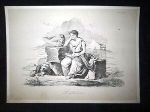 Incisione-d-039-allegoria-e-satira-L-039-abbandono-di-Roma-Don-Pirlone-1851