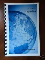 Password Organizer Website Internet Address Book Personalized Gift 230 World