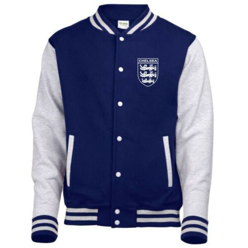 Chelsea 3 Lions Club And Country Small Crest Varsity Jacket Mens