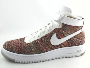 Details about NIKE Air Force One AF1 Ultra Flyknit Shoes Multi 817420 700 Mens US 12 EU 46