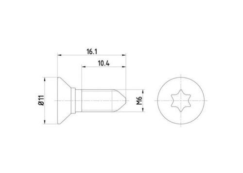 2x Schraube für Bremsscheibe Bremsscheibenschraube für Hyundai KIA Saab Toyota