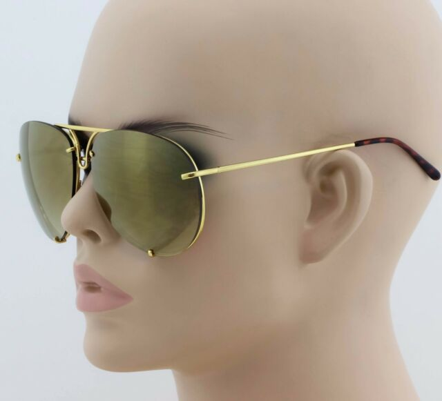 c1024ab76fae Mens Women Classic Vintage Retro Old School Aviator Style Sun Glasses Gold  Frame