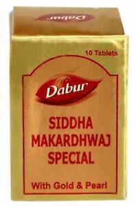 Dabur-Ayurvedic-Siddha-Makardhwaj-Special-Tablets-with-Gold-10-Tablets-per-Pack