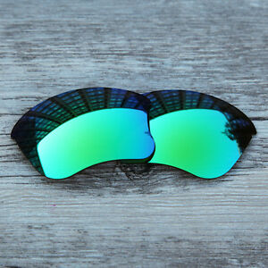 f893e1b72c5 Image is loading Green-polarized-Replacement-Lenses-for-Oakley-Flak-Jacket-