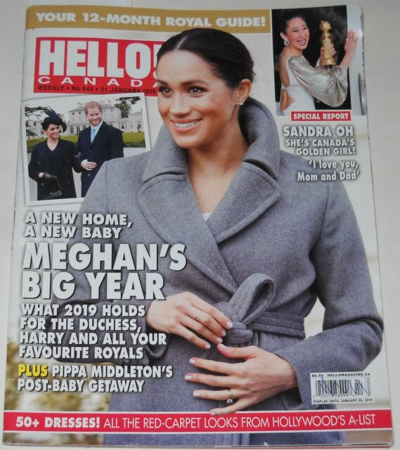 Hello Canada Magazine No 643 January 21 2019 Meghan's Big Year Sandra Oh