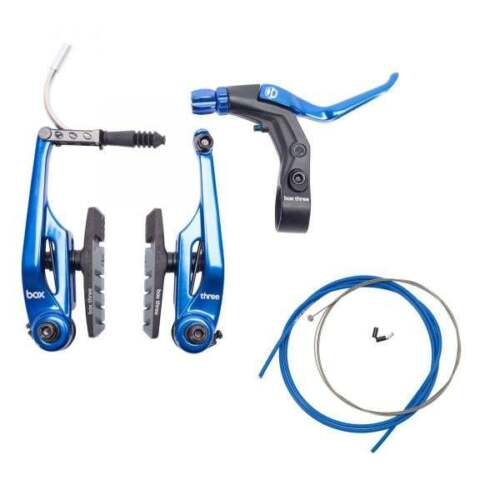 BRAKE KIT BOX THREE V Caliper 108mm w//LEVER AND CABLE LONG BMX All COLORS