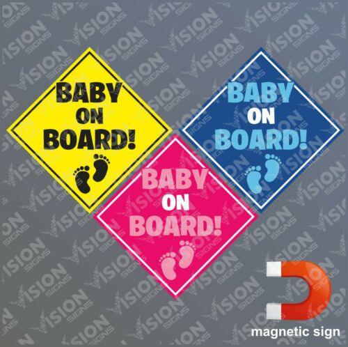 Baby on Board Sign Magnetic Sticker Car Van Pickup Boy Girl Warning Sign Notice