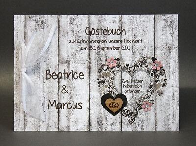 Freundschaftlich GÄstebuch Zur Hochzeit Holzoptik 10033 In 5 Farben