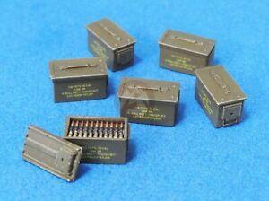 Legend-1-35-Modern-50-Cal-Ammo-Cans-Set-27x-Closed-3x-Open-amp-3-Belts-LF1374