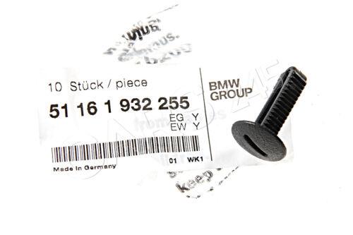 Original BMW E30 E31 Speicherung Zwischenwand Schloss x10 Stk OEM 51161932255