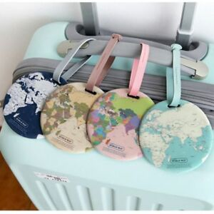 Holder-Travel-Accessories-Boarding-ID-Bag-Tags-World-Map-Suitcase-Label