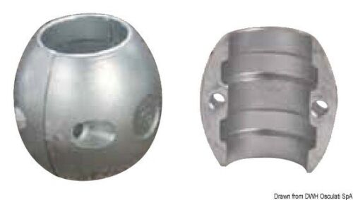 Marke Osculati 43.800.32 Magnesiumanode Oliv Hinterachse mm 31,8 1 1/4 Wassermotorräder