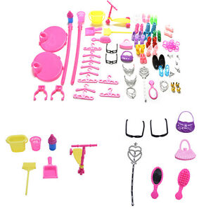 s-Accessories-Set-for-Dolls-Hangers-Bags-Furniture-Jewelry-Shoes-Kids-ToyO