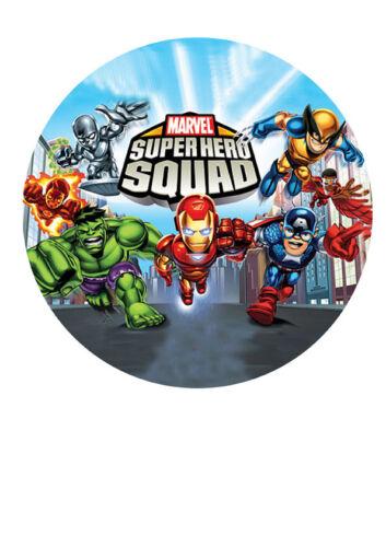 """Marvel Superhéroe Birthday Cake Topper Glaseado Azúcar 7.5/"""" IMG 11"""