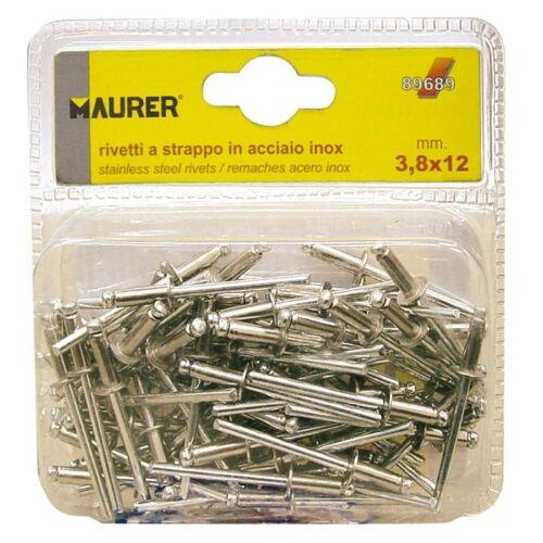 75 Pz Rivetti in Alluminio Maurer 2,9x12 mm in Blister Cf