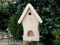 Vogelhaus Vogelvilla Nistkasten Holz Natur -versand Kostenlos-ihr Unikat-top