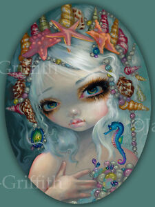 Jasmine-Becket-Griffith-art-print-mermaid-fairy-shells-SIGNED-Seashell-Princess