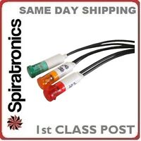 9mm 240v Mains Red Neon Indicator With 200mm Leads