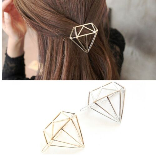 Haarspange Diamant gold silber Haarklammer edel Haar Geometrie neu Damen Style