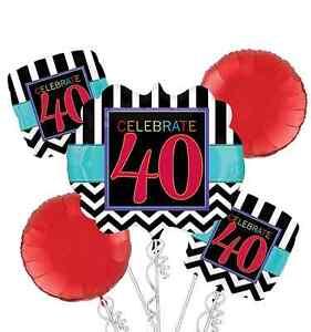 Celebrate-40th-Birthday-Party-Balloon-Bouquet-5-Pieces-Chevron-Marquee-Balloons