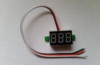 5pcs Dc-100v Digital Voltmeter 3-cable 0.36 Inch 3-digit Led Red Light