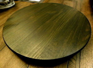 Details About Wood Lazy Susan Farmhouse Kitchen Dining Room Accessories New Brown Turntable