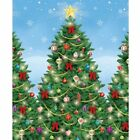 Giant Merry Christmas Trees Room Roll Party Scene Setter Decoration Backdrop