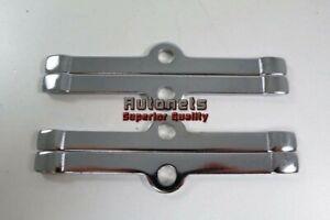 "8x Chrome 4-3//4/"" Valve Cover Spreader Bars Small Block Chevy SBC 283 305 327 350"