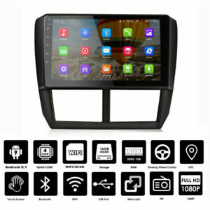 """9"""" Android Car GPS Radio for Subaru Forester Stereo 2008-2012 Audio Video Player"""
