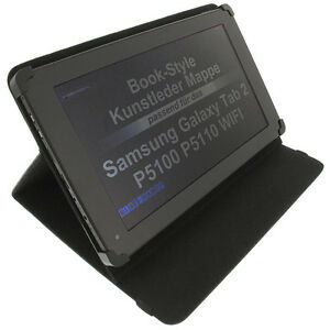 Etui-F-Samsung-Galaxy-Tab-2-10-1-Style-Livre-Tablette-de-Protection-Support-Noir