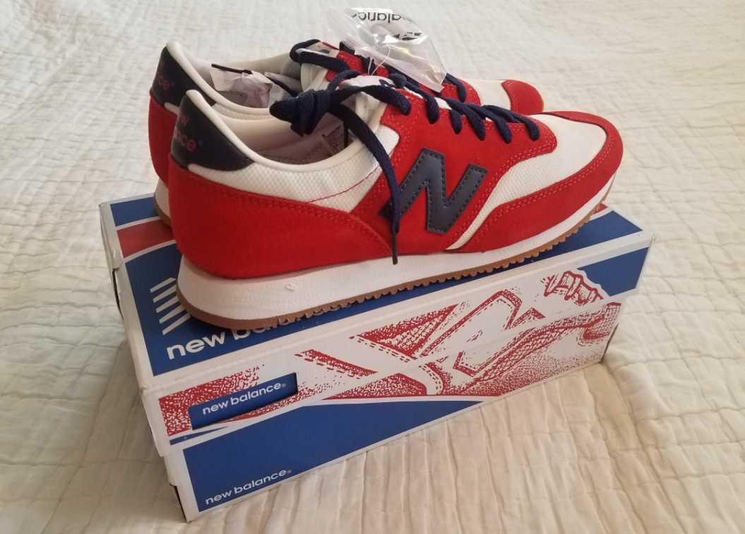 NUOVE DONNE 9.5  NUOVO BILANCIO PER J CREW 620 scarpe da ginnastica SHOO ROSSO IVORY NAVY  una marca di lusso