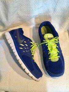 Blue Neon Green MENS Sz 14 Nike Flex