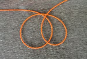 Handmade-Simply-Orange-Single-Strand-African-Waist-beads-Belly-Beads