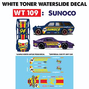 WT109 White Toner Waterslide Decals /> SUNOCO />For Custom 1:64 Hot Wheels