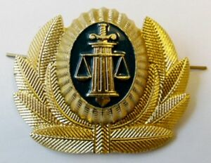 Details about Original Russian BAILIFF Court Enforcement Officer Cap Hat  Badge Cockade