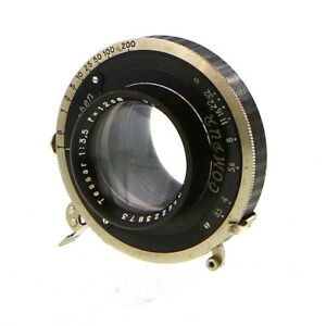 Vintage Carl Zeiss Jena 12cm (120mm) f/3.5 Tessar in Compur Shutter - UG