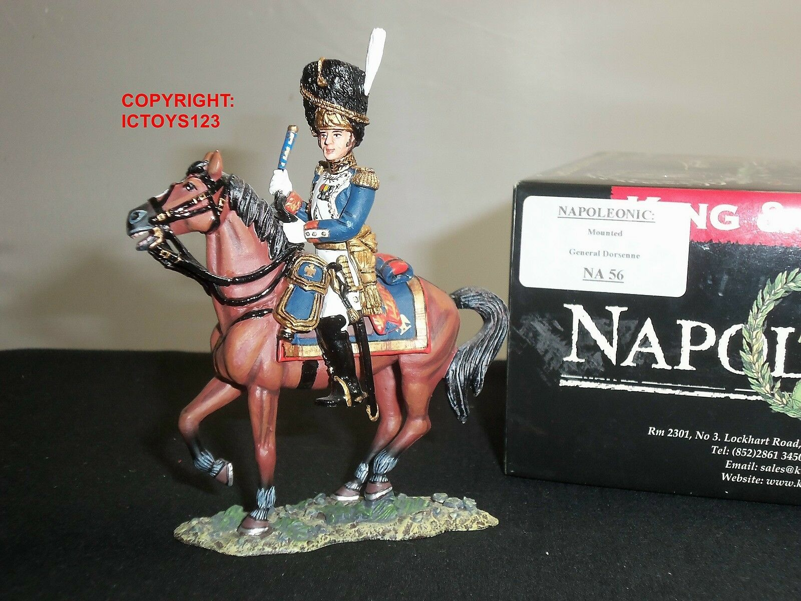 KING AND COUNTRY NA56 FRENCH GENERAL DORSENNE MOUNTED METAL TOY SOLDIER FIGURE