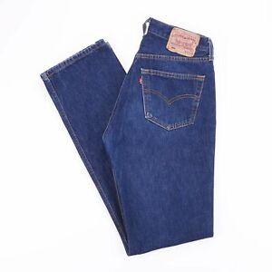 Vintage-Levi-039-s-501-Regular-Straight-Fit-Men-039-s-Blue-Jeans-W30-L36