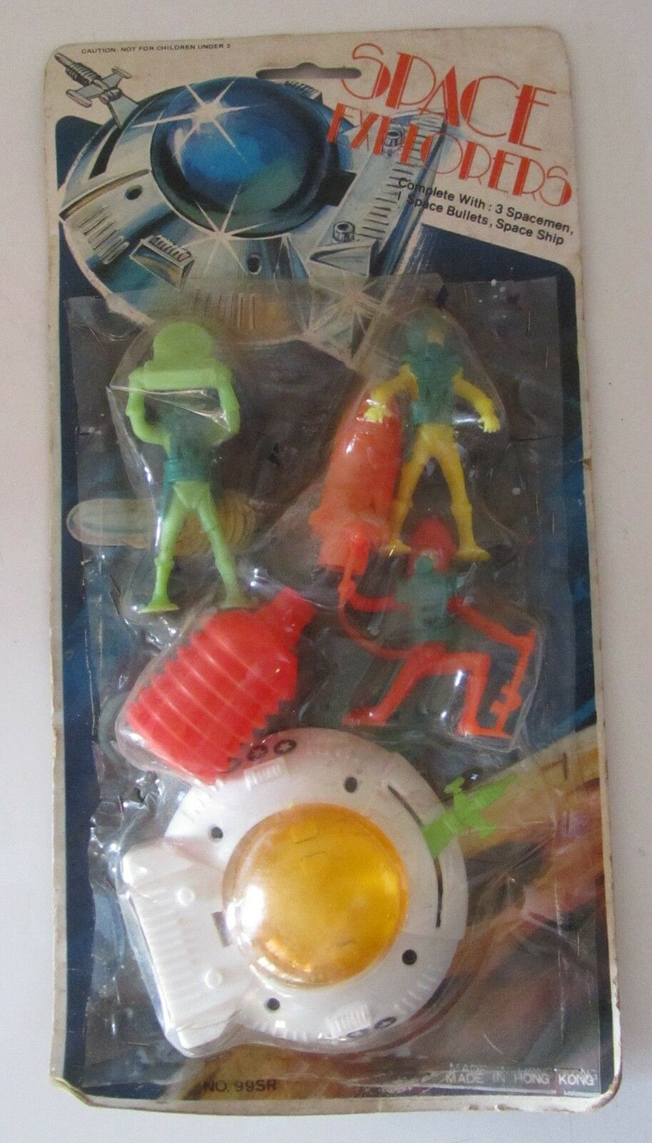 Card anni 70 Soldatini Spaziali Space Explorers Hong Kong flying saucer