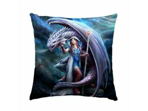 Anne-Stokes-cushion-pillow-featuring-Dragon-Mage