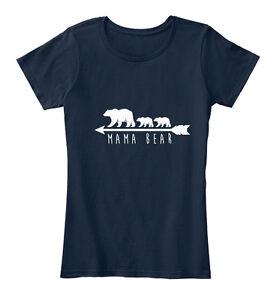 Mama-Bear-Women-039-s-Premium-Tee-T-Shirt