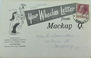 1950-S-MACKAY-YOUR-WHACKO-LETTER-POSTCARD-BOOK-QUEENSLAND