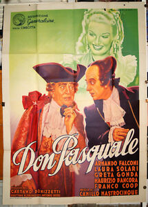 Poster-4f-Movie-Don-Pasquale-Armando-Falconi-Laura-Solar-1940-Art-MARTINATI